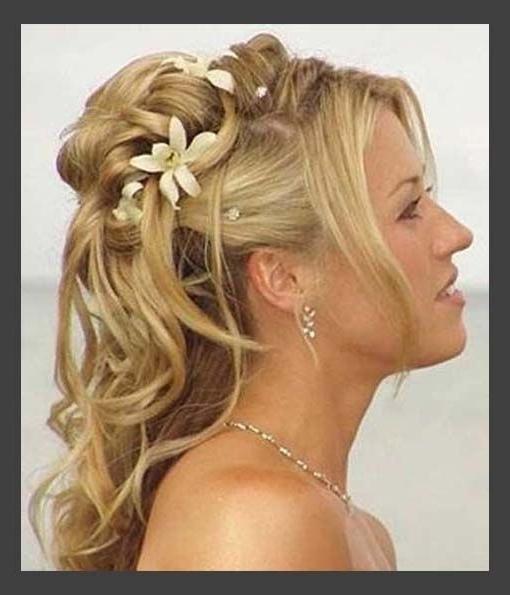 24 Best Wedding Images On Pinterest | Bridal Hairstyles, Wedding Within Simple Wedding Hairstyles For Medium Length Hair (View 15 of 15)
