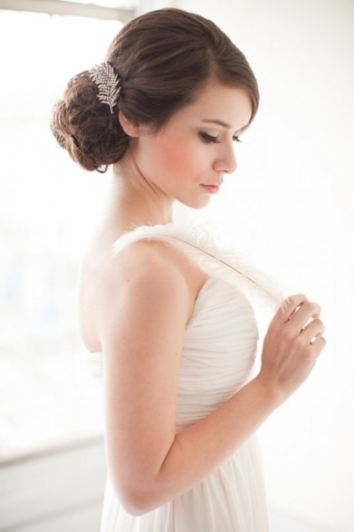 25 Awesome Ideas For A No Veil Wedding Look – Weddingomania Intended For Wedding Hairstyles Without Veil (View 8 of 15)