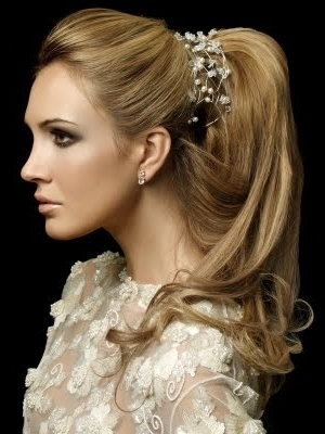 25 Best Bridal Hair Images On Pinterest | Hair Dos, Wedding Hair And With Regard To Wedding Hairstyles For Long Ponytail Hair (View 3 of 15)