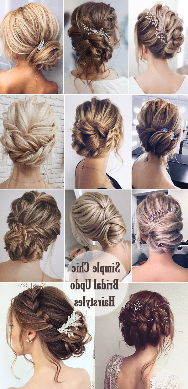 25 Chic Updo Wedding Hairstyles For All Brides With Regard To Simple Wedding Hairstyles (View 2 of 15)