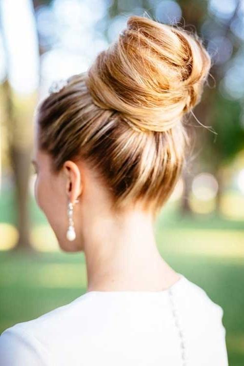 25 Good Bun Wedding Hairstyles | Hairstyles & Haircuts 2016 – 2017 With High Bun Wedding Hairstyles (View 1 of 15)