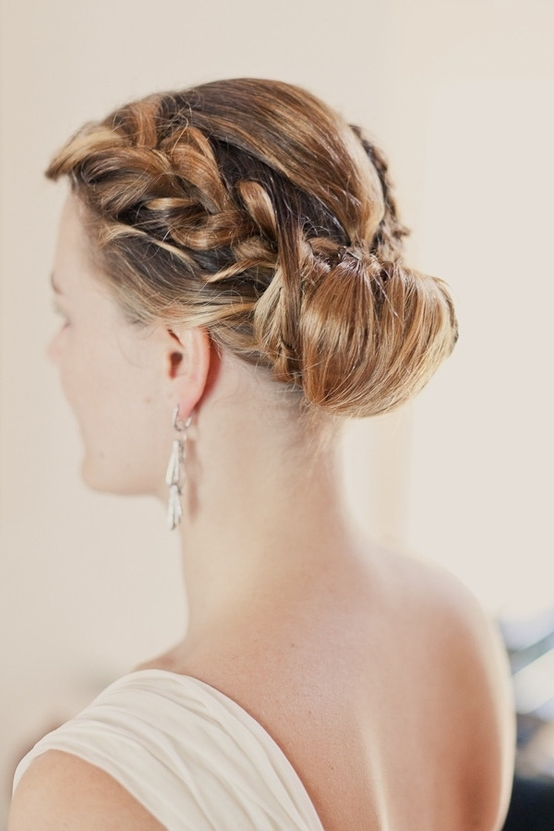 25 Of The Most Beautiful Braided Bridal Updos : Chic Vintage Brides Inside Wedding Updos For Long Hair With Braids (View 3 of 15)