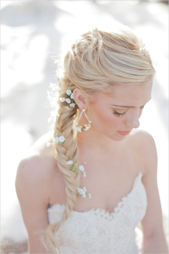 25 Of The Most Beautiful Braided Bridal Updos : Chic Vintage Brides Within Wedding Braids Hairstyles (View 11 of 15)