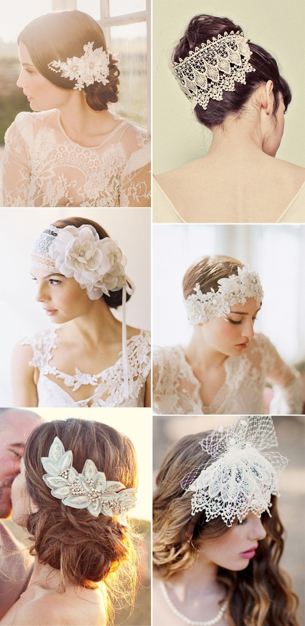25 Prettiest Lace Bridal Hairpieces & Headpieces For Your Wedding With Regard To Wedding Hairstyles With Hair Piece (View 7 of 15)