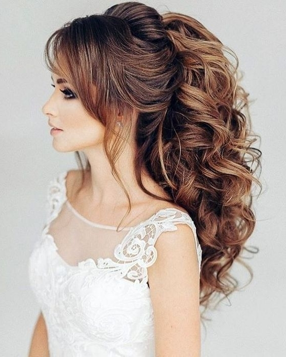 25 Stylish Wedding Hairstyles 2018 For Girls | Express Yourself Intended For Wedding Hairstyles For Girls (View 1 of 15)