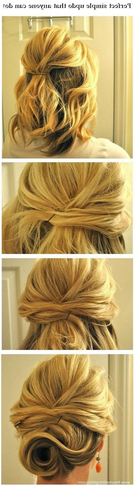 25 Tips And Tricks To Get The Perfect Bun | Shoulder Length Hair With Simple Wedding Hairstyles For Medium Length Hair (View 13 of 15)