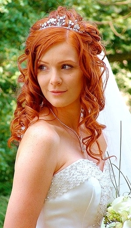 26 Best Wedding Hair (Ginger) Images On Pinterest | Auburn Hair With Regard To Wedding Hairstyles For Long Red Hair (View 1 of 15)