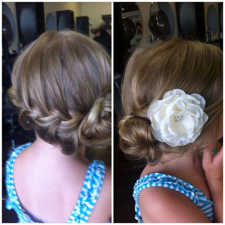 27 Best Bridesmaid And Bride Hair Images On Pinterest | Kid Within Wedding Hair For Young Bridesmaids (View 3 of 15)