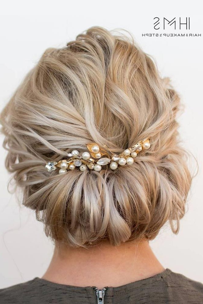 27 Chic Updos For Medium Hair | Pinterest | Hair Style, Updos And For Wedding Hairstyles For Short Blonde Hair (View 13 of 15)