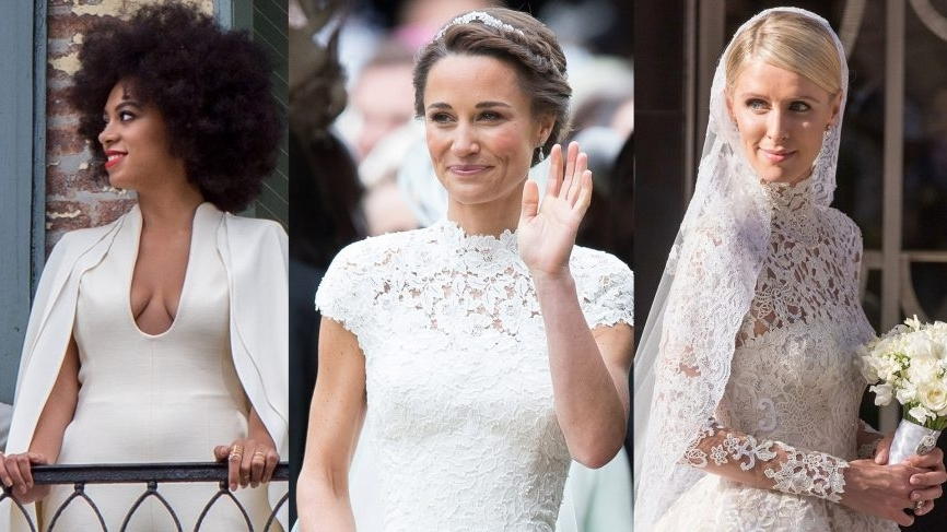 28 Best Celebrity Wedding Hairstyles Of All Time   Vogue Within Celebrity Wedding Hairstyles (View 3 of 15)