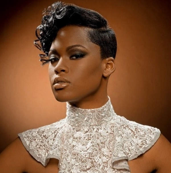 28 Gorgeous Wedding Hairstyles For Black Bridesmaids – Navokal Regarding Short Wedding Hairstyles For Black Bridesmaids (View 3 of 15)