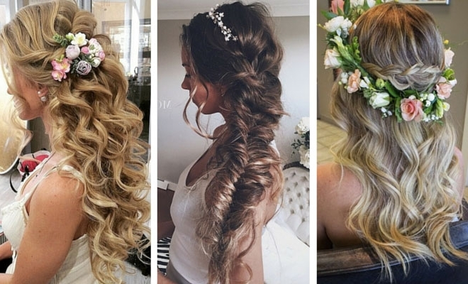 28 Trendy Wedding Hairstyles For Chic Brides | Stayglam Inside Wedding Hairstyles For Extremely Long Hair (View 9 of 15)