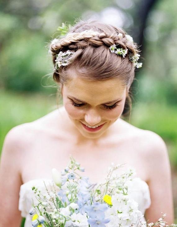 287 Best Braids & Braided Updos Images On Pinterest | Hair Dos Regarding Garden Wedding Hairstyles For Bridesmaids (View 14 of 15)
