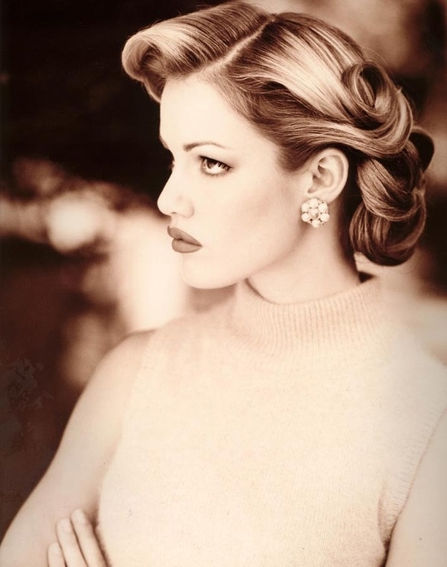 29 Stunning Vintage Wedding Hairstyles – Mon Cheri Bridals Intended For Retro Wedding Hairstyles For Long Hair (View 5 of 15)