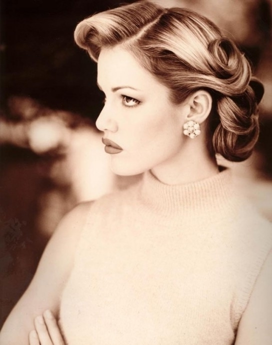 29 Stunning Vintage Wedding Hairstyles – Mon Cheri Bridals With Most Regarding Vintage Updo Wedding Hairstyles (View 5 of 15)