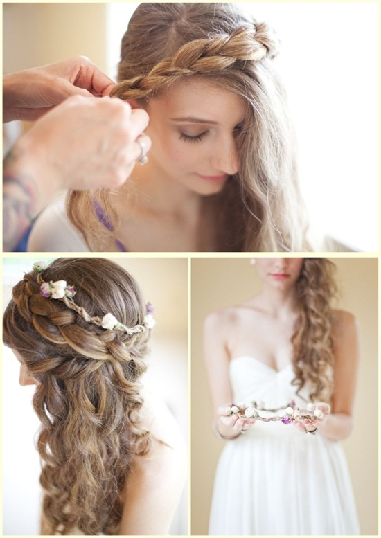 3 Gorgeous Wedding Hairstyles With Clip On Hair Extensions – Vpfashion For Wedding Hairstyles For Long Hair With Headband (View 5 of 15)