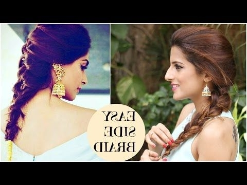 3 Indian Party Hairstyles For Medium To Long Hair | Quick & Easy With Regard To Easy Indian Wedding Hairstyles For Medium Length Hair (View 5 of 15)