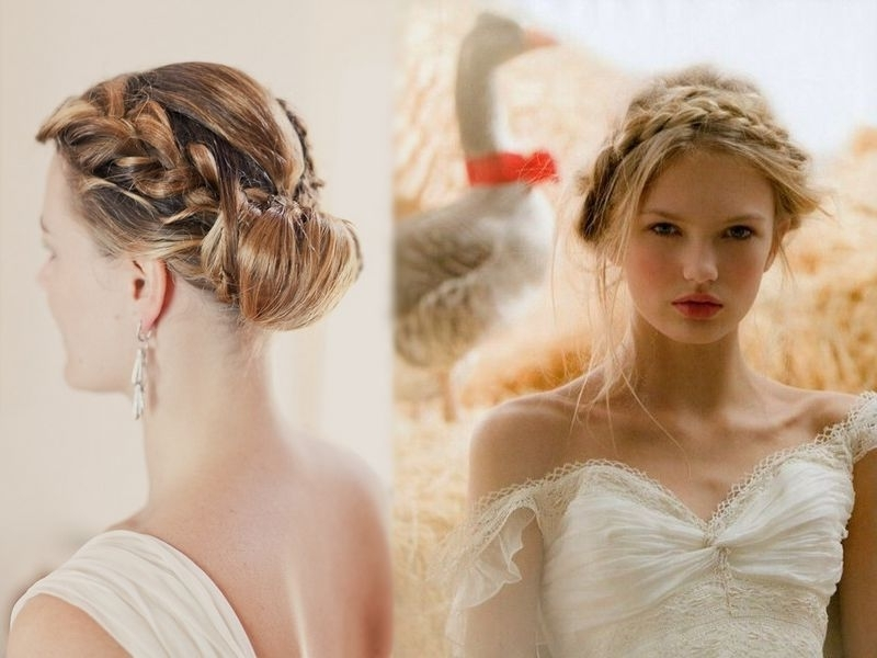 3 Suitable Hairstyles For Brides With Round Faces In Wedding Hairstyles For Long Hair And Oval Face (View 14 of 15)