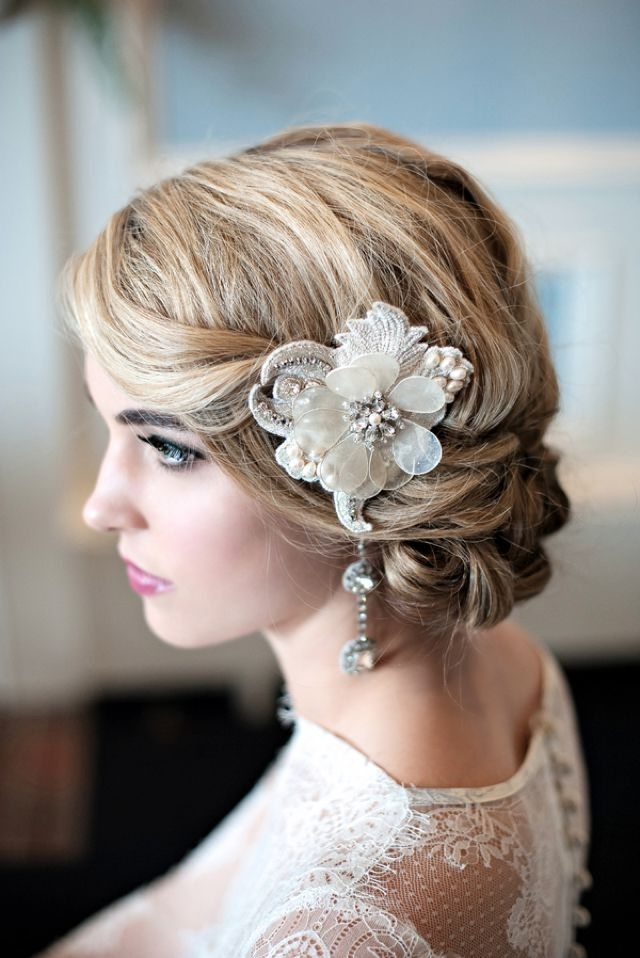 30 Amazing Wedding Hairstyles With Headpiece | Deer Pearl Flowers For Wedding Hairstyles With Headpiece (View 11 of 15)