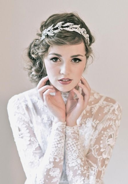 Featured Photo of Wedding Hairstyles With Headpiece