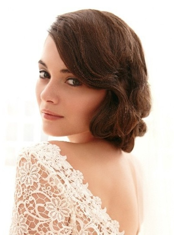 30 Awesome Vintage Wedding Hairstyles Ideas – Weddingomania Regarding Vintage Wedding Hairstyles (View 8 of 15)