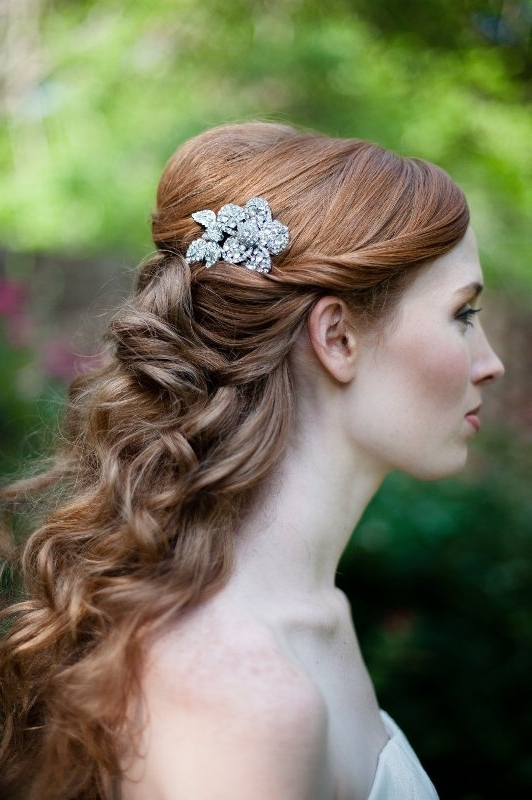 30 Awesome Vintage Wedding Hairstyles Ideas – Weddingomania Regarding Wedding Hairstyles For Vintage Long Hair (View 12 of 15)