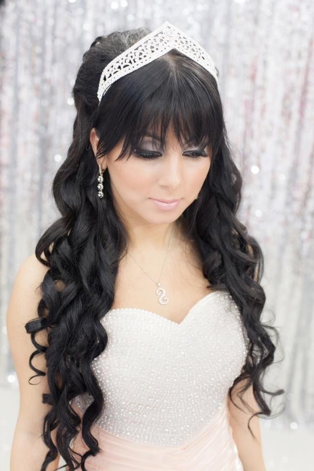 30 Beautiful Wedding Hair For Bridal Veils | Veil, Wedding And Pertaining To Wedding Hairstyles For Long Black Hair (View 1 of 15)