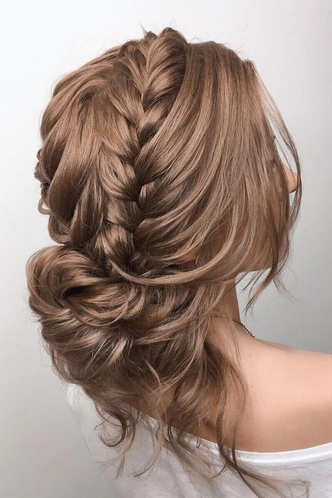 Image Gallery Of Messy Bun Wedding Hairstyles View 6 Of 15 Photos