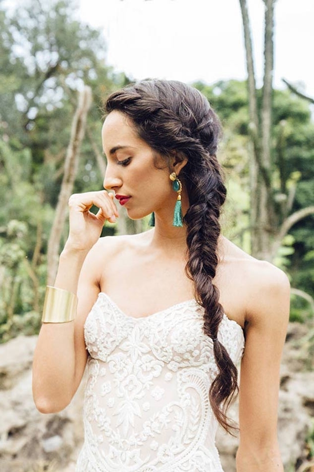 30 Bridesmaid Hairstyles Your Friends Will Actually Love | A With Fishtail Braid Wedding Hairstyles (View 4 of 15)