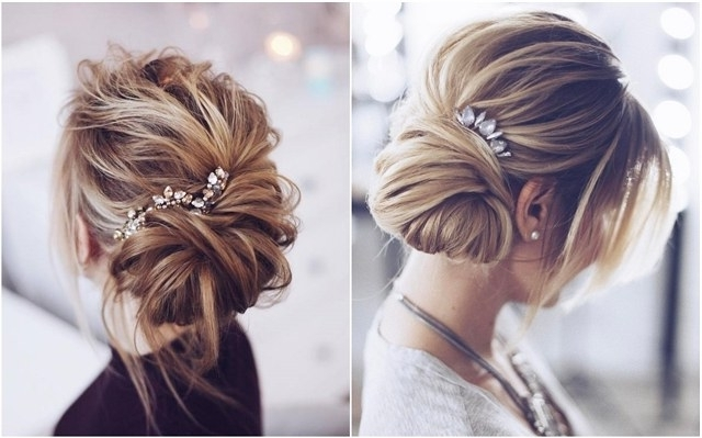 30 Chic Wedding Hair Updos For Elegant Brides | Deer Pearl Flowers With Regard To Wedding Evening Hairstyles (View 6 of 15)