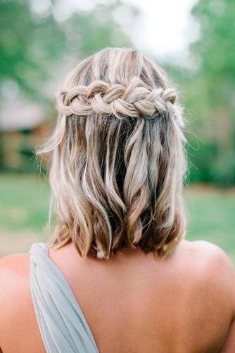 30 Cute Braided Hairstyles For Short Hair | Plait Hairstyles, Short In Bridesmaid Hairstyles For Short To Medium Length Hair (View 7 of 15)