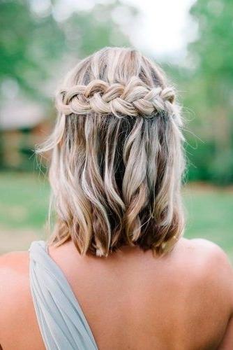 30 Cute Braided Hairstyles For Short Hair | Plait Hairstyles, Short In Bridesmaid Hairstyles For Short To Medium Length Hair (View 4 of 15)