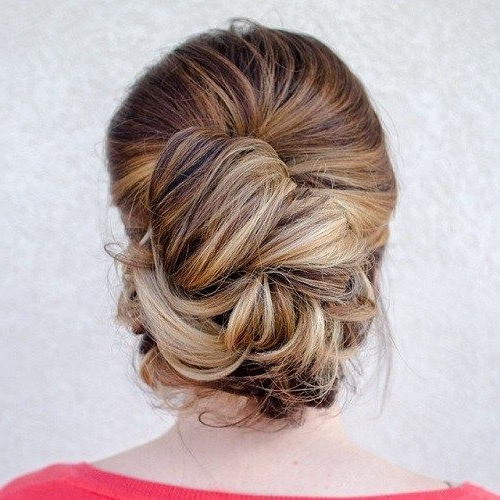 30 Easy And Stylish Casual Updos For Long Hair | Casual Updo Within Wedding Hairstyles For Thick Hair (View 6 of 15)