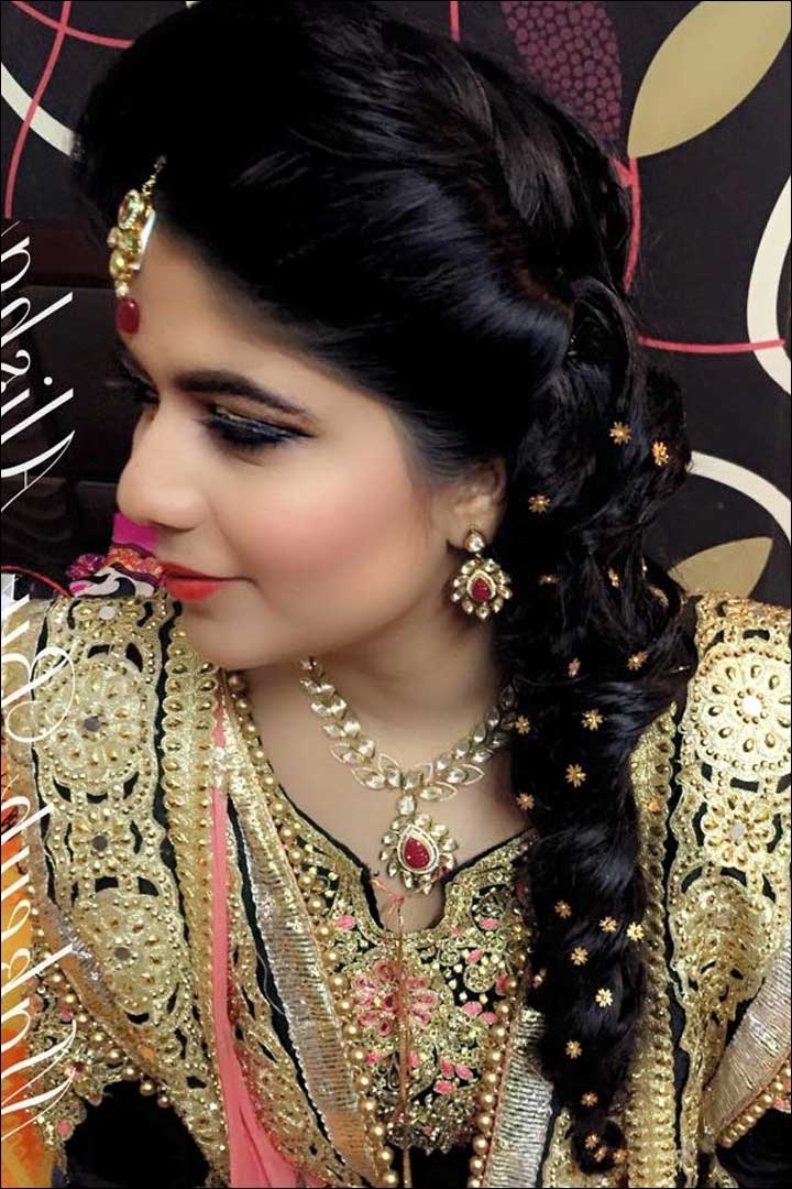 30 Hairstyles For Indian Wedding (And Bridal) In 2018 – Find Health Tips Inside Wedding Hairstyles For Indian Bridesmaids (View 9 of 15)