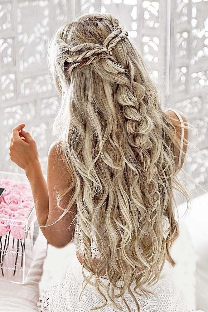 30 Perfect Bridal Hairstyles For Big Day Party | Pinterest | Bridal For Wedding Hairstyles For Very Long Hair (View 1 of 15)