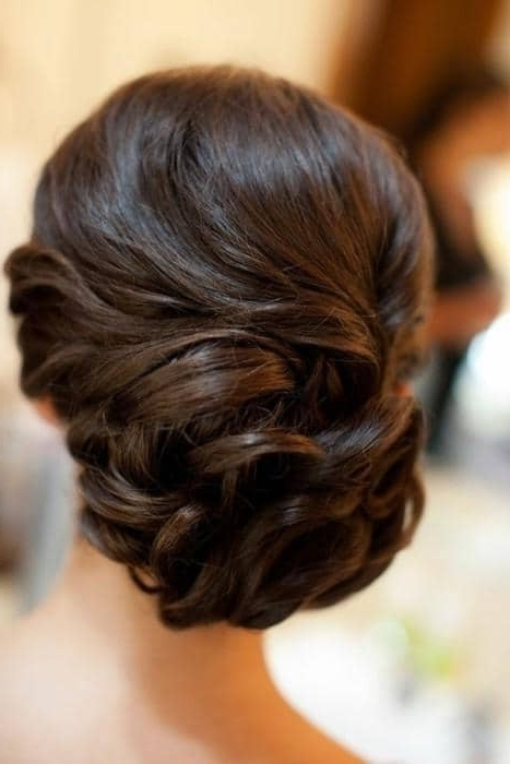 30 Tantalizing Wedding Hairstyles For Medium Length Hair Intended For Wedding Hairstyles For Medium Length Dark Hair (View 15 of 15)