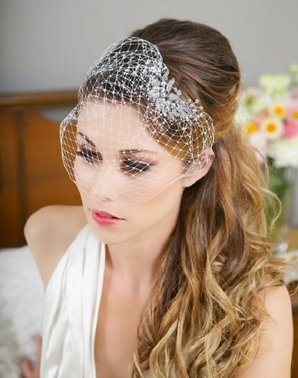 30 Wedding Hairstyles For Long Hair – Easyday Inside Wedding Hairstyles For Long Hair With Birdcage Veil (View 8 of 15)