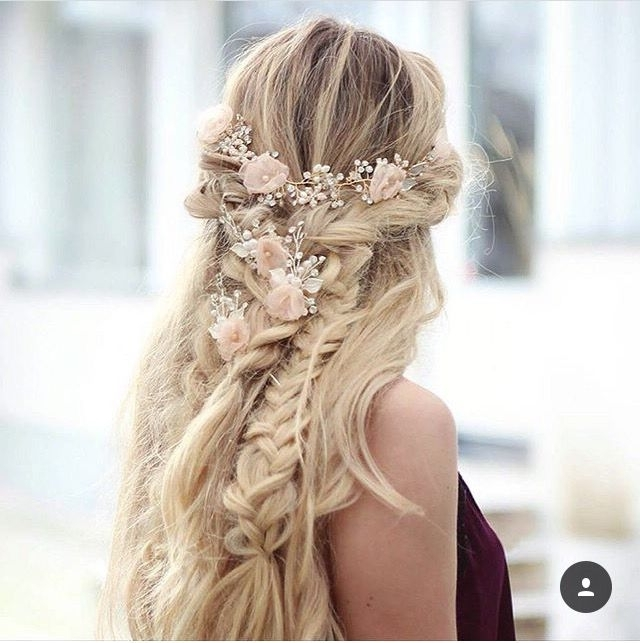 31 Best ???????? Images On Pinterest | Hair Dos, Wedding Hair Styles With Regard To Wedding Hairstyles For Long Hair With Flowers (View 9 of 15)