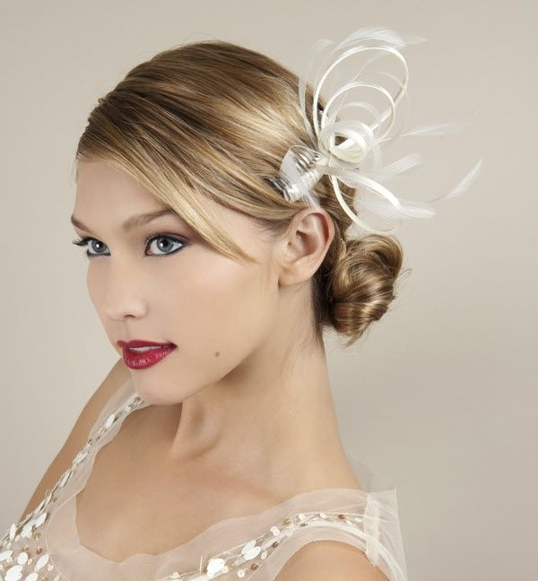 31 Best Hair Images On Pinterest | Headpieces, Fascinators And Headdress For Wedding Guest Hairstyles For Long Hair With Fascinator (View 1 of 15)