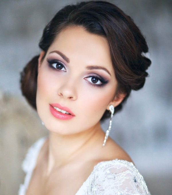 31 Gorgeous Wedding Makeup & Hairstyle Ideas For Every Bride Regarding Wedding Hairstyles And Makeup (View 12 of 15)