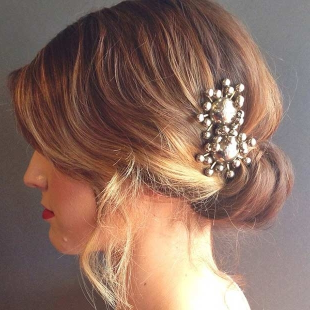 31 Wedding Hairstyles For Short To Mid Length Hair | Stayglam Pertaining To Medium Length Updo Wedding Hairstyles (View 10 of 15)
