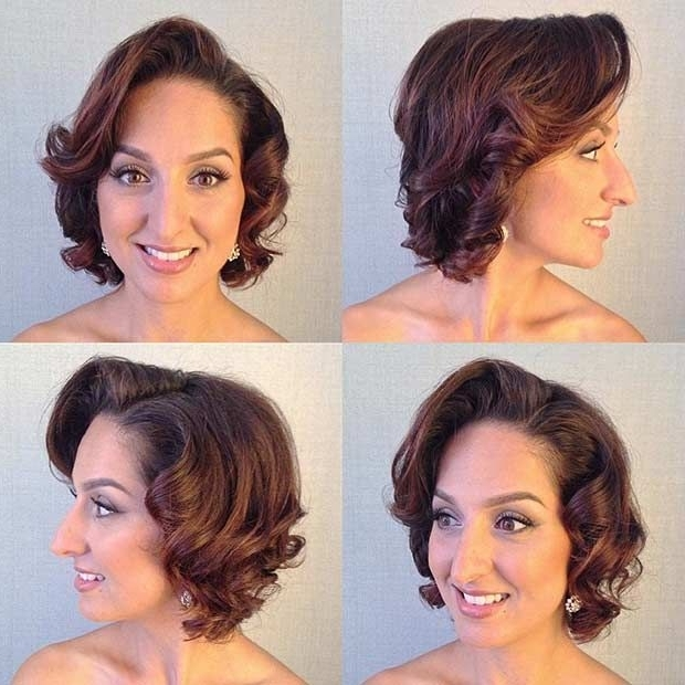 31 Wedding Hairstyles For Short To Mid Length Hair | Vintage Wedding Inside Wedding Hairstyles For Chin Length Hair (View 4 of 15)