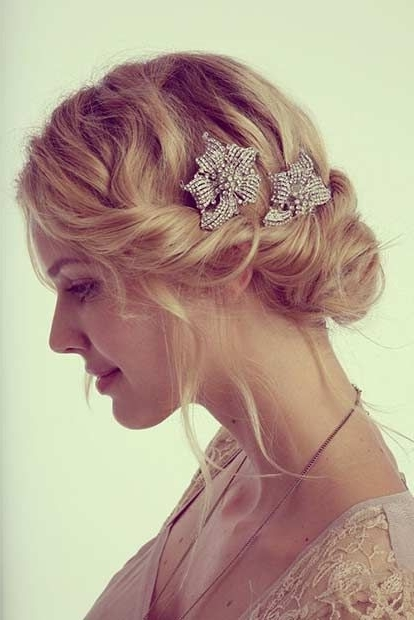 31 Wedding Hairstyles For Short To Mid Length Hair | Wedding Updo Pertaining To Wedding Hairstyles For Short Medium Length Hair (View 4 of 15)