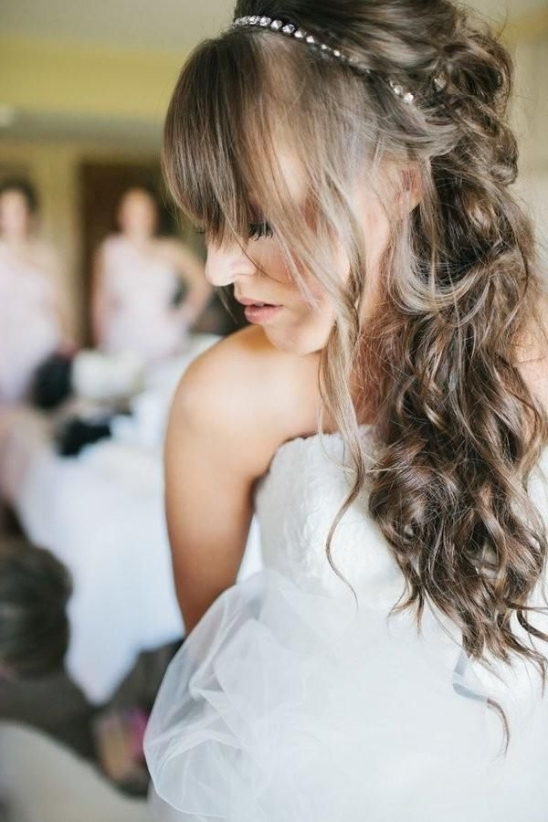 32 Dazzling Hairstyles That Enhance Your Long Hair | Perfect For Wedding Hairstyles For Long Hair With Bangs (View 4 of 15)