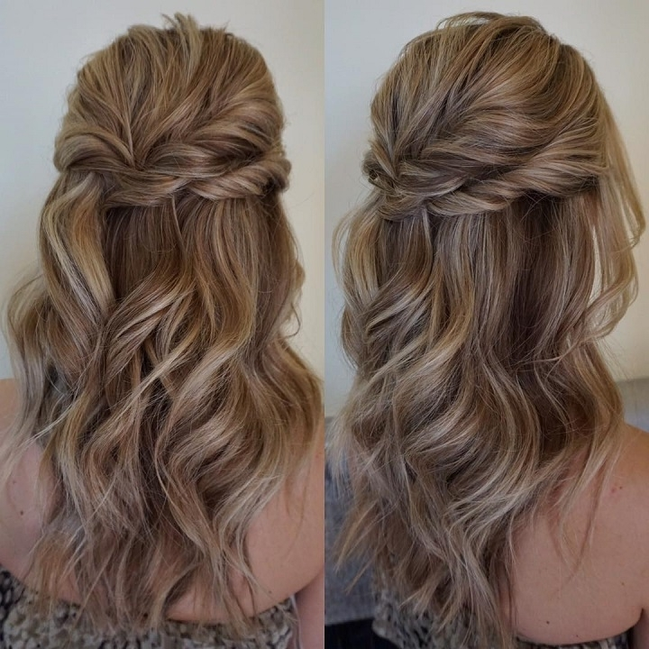 32 Pretty Half Up Half Down Hairstyles – Partial Updo Wedding Hairstyle Intended For Partial Updo Wedding Hairstyles (View 6 of 15)