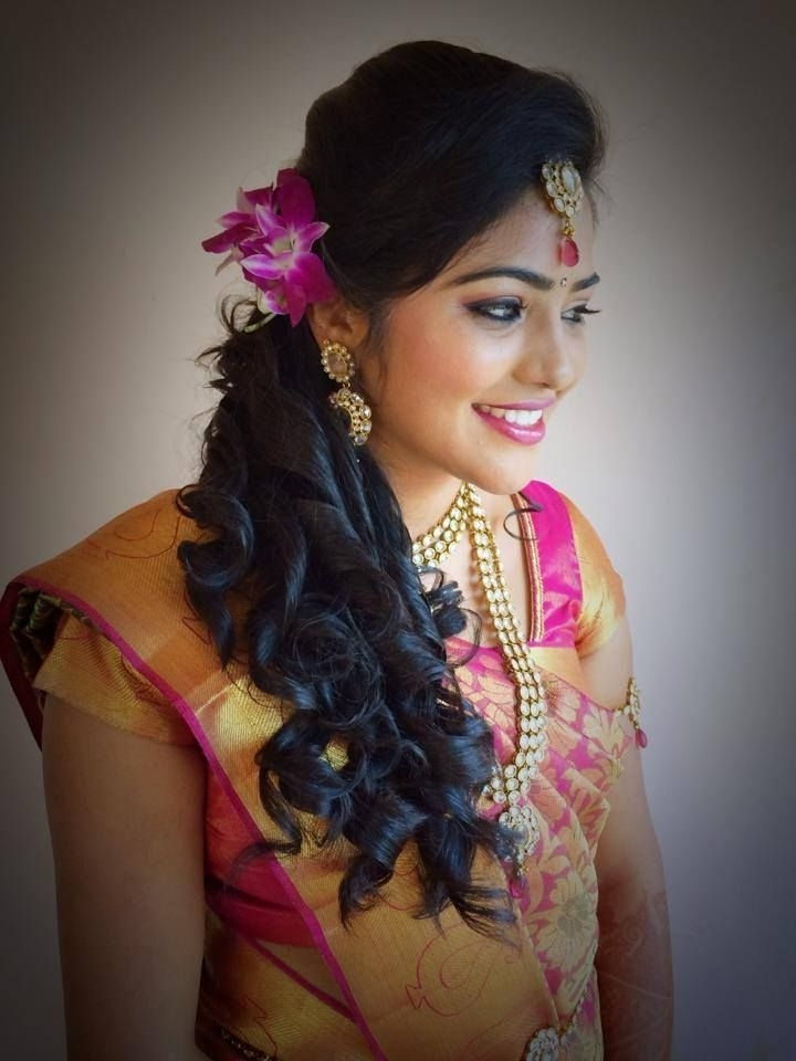 32C0E4E8B329D93Ad8Ab6B068042C650 720×960 Pixels | Ethnic Wear With Indian Wedding Reception Hairstyles For Long Hair (View 2 of 15)