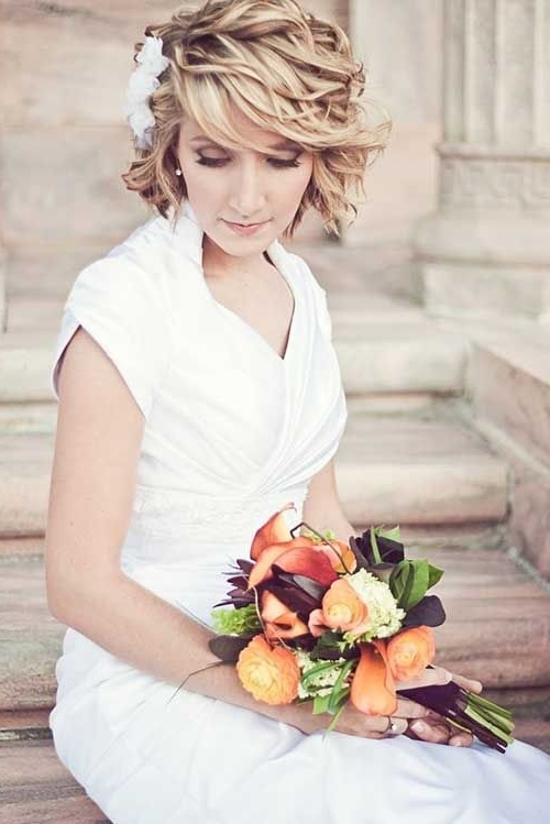 33 Best Wedding Hairstyles Images On Pinterest | Bridal Hairstyles Inside Casual Wedding Hairstyles For Short Hair (View 7 of 15)