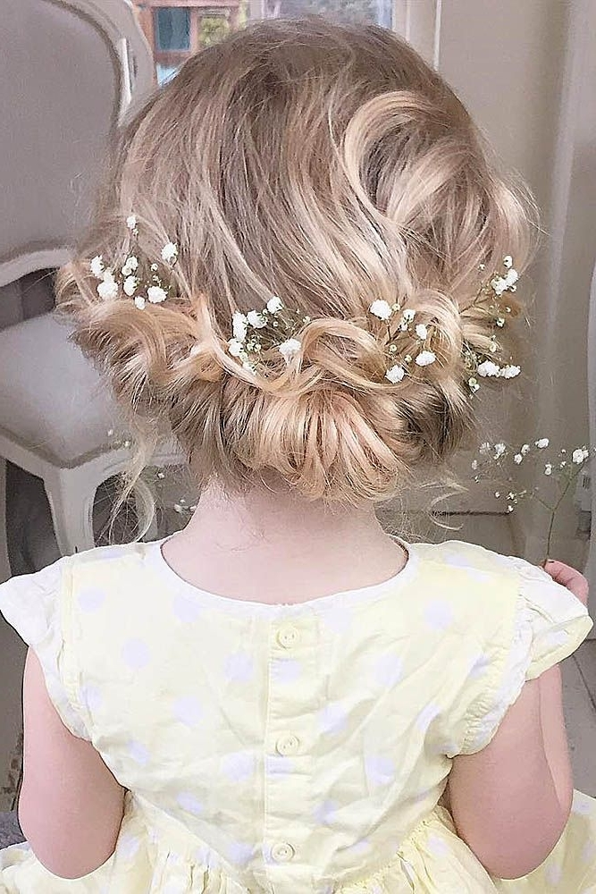 33 Cute Flower Girl Hairstyles (2017 Update | Pinterest | Girl Regarding Wedding Hair For Young Bridesmaids (View 8 of 15)