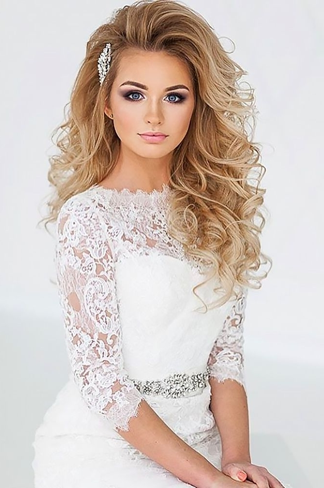 33 Oh So Perfect Curly Wedding Hairstyles   Pinterest   Curly With Regard To Curly Wedding Hairstyles (View 7 of 15)