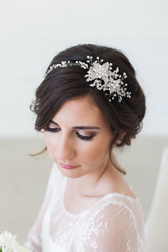 33 Wedding Hairstyles You Will Absolutely Love | The Best Wedding Within Wedding Hairstyles With Accessories (View 12 of 15)